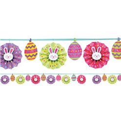 Paper Fan Easter Banner - 3.65m Easter Decoration