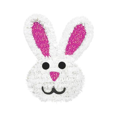 Tinsel Easter Bunny Decoration - 15cm