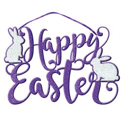 Happy Easter Glitter Script Foam Sign - 33cm x 22cm