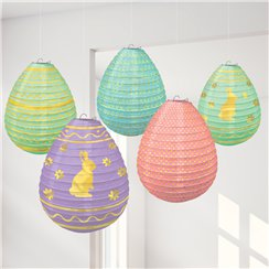 Easter Egg Mini Hanging Lantern Decorations - 12cm