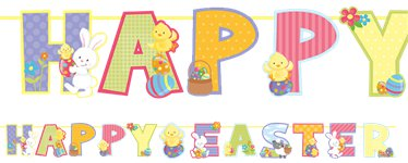 Happy Easter Letter Garland - 2m
