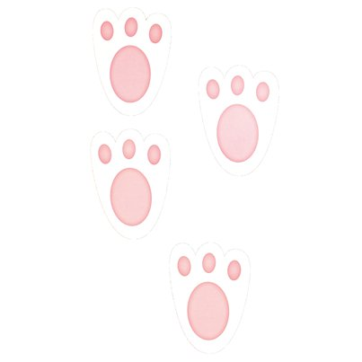 Easter Bunny Feet Cut Outs - 11cm