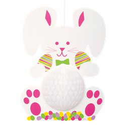 Easter Bunny Honeycomb Decoration - 35cm