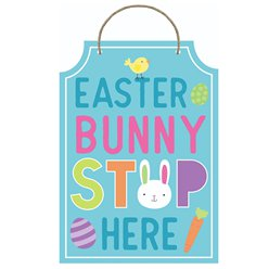 Easter Bunny Stop Here Sign - 29cm