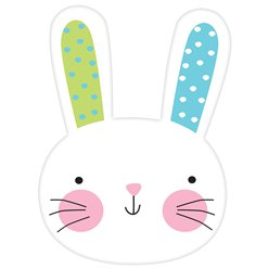 "Easter Hello Bunny 8"" Card Cutout"