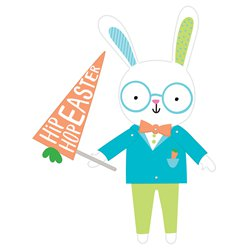 Easter Hello Bunny Jointed Card Cutout - 95cm