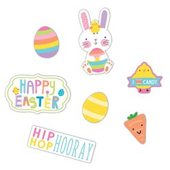Easter Hello Bunny Card Cutouts