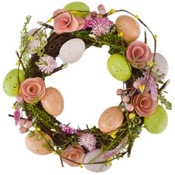 Easter Rose and Egg Wreath