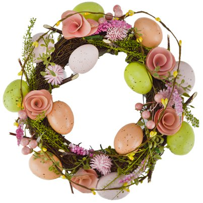 Easter Rose and Egg Wreath - 30cm