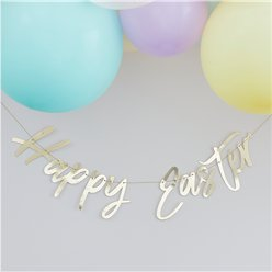 'Happy Easter' Gold Letter Bunting