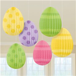 Mini Pleated Paper Eggs - 13cm