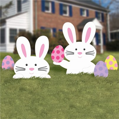 Easter Bunny Lawn Signs - 40cm