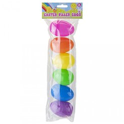 Rainbow Fillable Plastic Eggs - 8cm