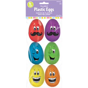 Large Funny Face Fillable Eggs - 8cm