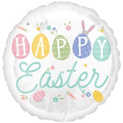 "Pastel Happy Easter - 18"" Foil Balloon"