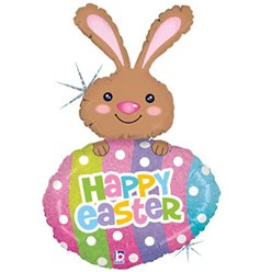 "Easter Egg & Bunny Supershape Balloon - 42"" Foil"