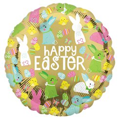 "Happy Easter Gold Balloon - 18""Foil"