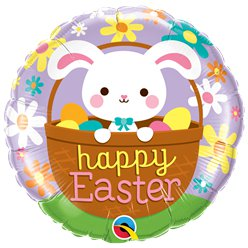 Happy Easter Bunny Balloon - 18cm Foil Balloon