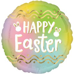 "Ombre Happy Easter Balloon - 18"" Foil"