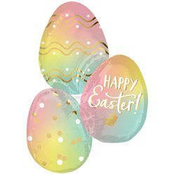 "Ombre Happy Easter Supershape - 35"" Foil"