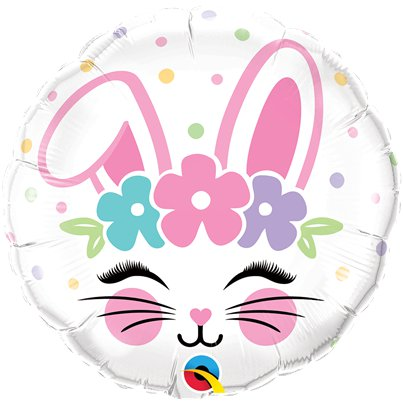 "Bunny Face Balloon - 18"" Foil"