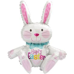 Easter Sitting Bunny Balloon - 24'' Foil