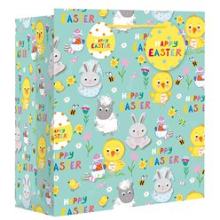 Extra Large 'Easter Spring Animals' Bag - 45cm