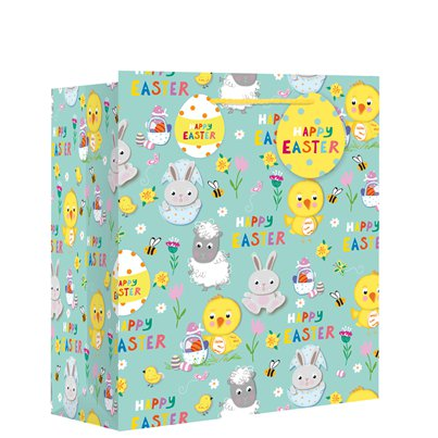 Medium 'Easter Spring Animals' Gift Bag - 25cm