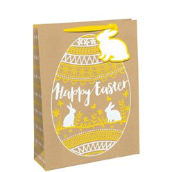 Medium Happy Easter Kraft Bag