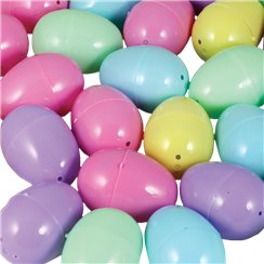 Pastel Colour Plastic Fillable Eggs - 6cm