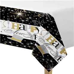 Elegant Celebration Plastic Tablecover - 1.3m x 2.5m