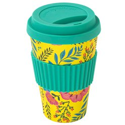 Eco Floral Bamboo Travel Mug