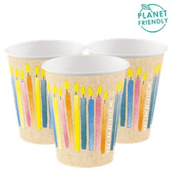 ECO-Birthday Paper Cups - 255ml