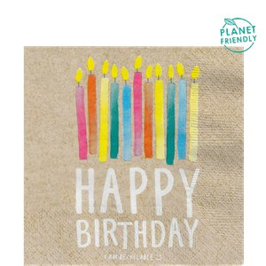 ECO-Birthday Paper Napkins - 33cm