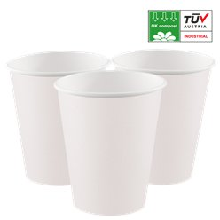 Compostable White Paper Cups - 200ml