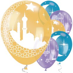 "Eid Balloons - 11"" Latex"