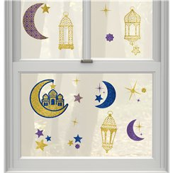 Eid Window Decorations - Various Sizes