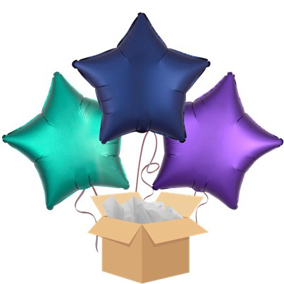 Eid Star Mix Balloon Bouquet - Delivered Inflated