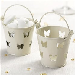 Elegant Butterfly - Ivory/Gold Favour Pails