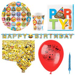 Emoji Party Pack - Deluxe Pack for 8