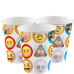 Emoji Cups - 255ml Paper Party Cups