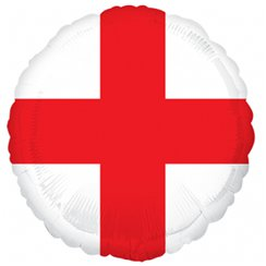 "St George's Cross England Flag Balloon - 18"" Foil"
