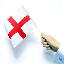 England Hand Waving Flags