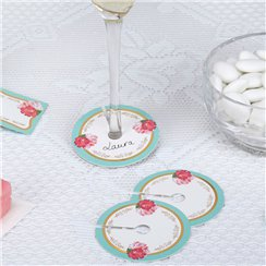 Eternal Rose Glass Name Markers
