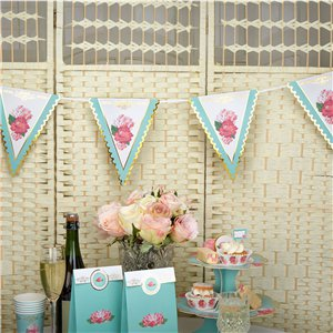 Eternal Rose Paper Bunting - 3.5m