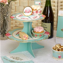 Eternal Rose Cake Stand - 2 Tier