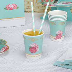 Eternal Rose Cups - Paper Party Cups 256ml