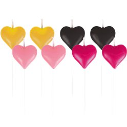 Everyday Love Mini Heart Candle Picks