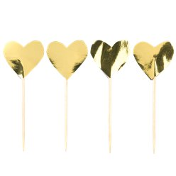 Everyday Love Gold Foiled Heart Picks