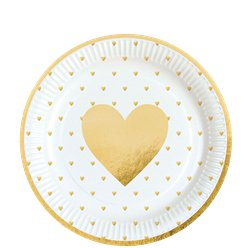 Everyday Love Gold Heart Plates - 23cm